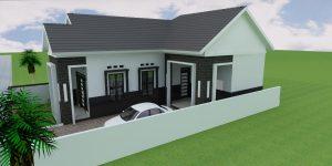 desain rumah warna hitam putih