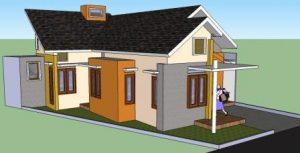 desain rumah tanah ngantong