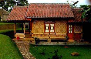 desain rumah dari bambu