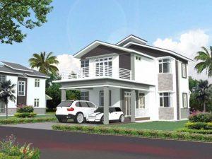 desain rumah warna putih