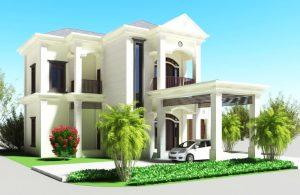 desain rumah nuansa putih