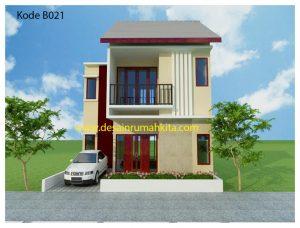 gambar desain rumah sederhana 2 lantai