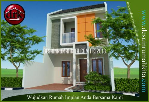 desain rumah minimalis 2 lantai di lahan terbatas b